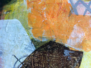 Catch me if you can - painting on wooden panel - detail