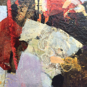 Collected memories - abstract painting - detail