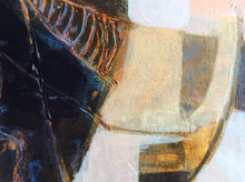 Distant voices n1 - painting on wooden panel - detail