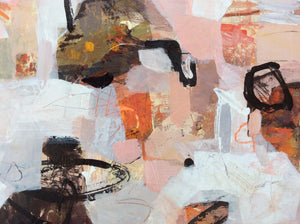 Haikyo XI-abstract painting inspired by urban exploration-Linda Coppens-detail