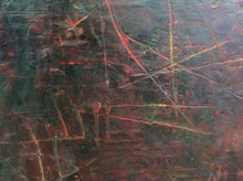 Listen to the sunset n9-oil & cold wax on wooden panel-detail shot