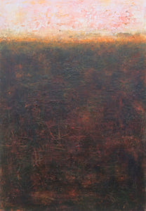 Listen to the sunset n9-oil & cold wax on wooden panel