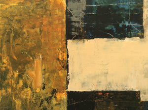 Night (part of a duo Night and Day)-abstract painting in oil and cold wax-detail