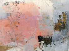 Sea of dreams-abstract painting in oil and cold wax-closeup detail