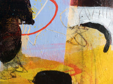 Who wants to play - painting on wooden panel - detail