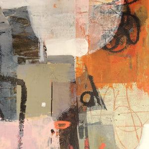 Haikyo I-abstract painting inspired by urban exploration-detail