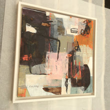 Haikyo I-abstract painting inspired by urban exploration-framed-sides