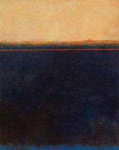 Listen to the sunset n2-abstract painting in oil and cold wax