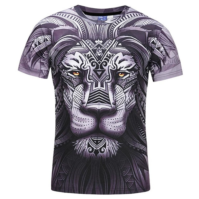 Lion Tribal Print T shirt