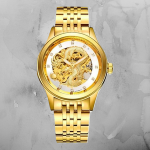 Gold Dragon Quartz Watch