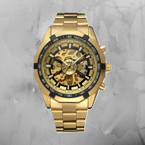VultureKings Luxury Mechanical Watch - Gold/White/Black