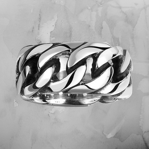Mens Stainless Steel Ring - Silver