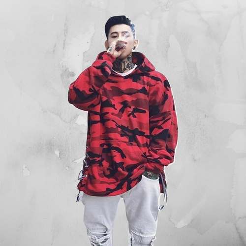 Hyweacvar Classic Camo Pullover - Red