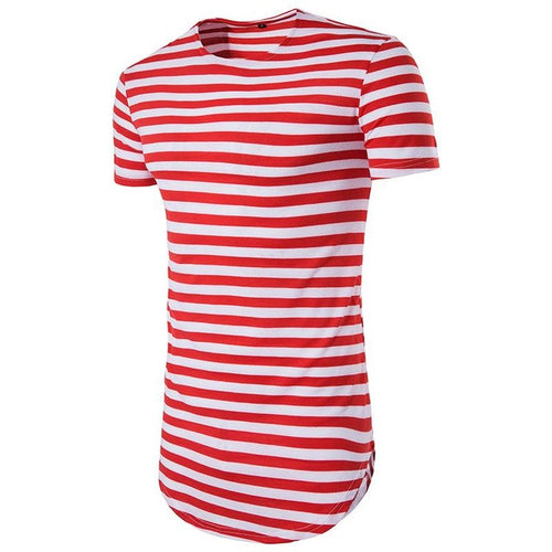 Striped Longline Fitted Tee