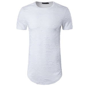 Ripped Longline Fitted Tee