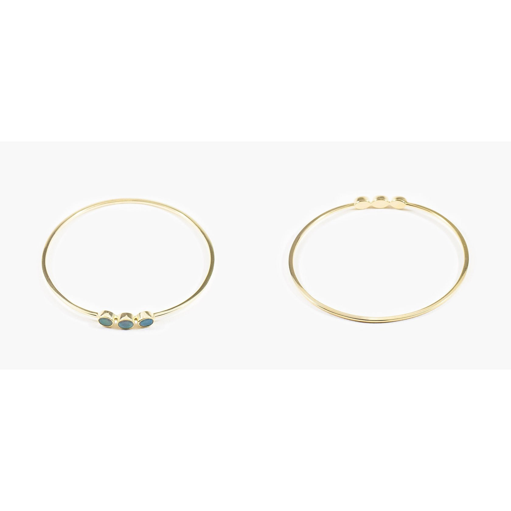 TRIPLE STONE / 14CT GOLD VERMEIL / OPAL