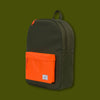 Classic Backpack - Forest & Vermillion