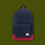 Packable Day Pack - Navy & Red
