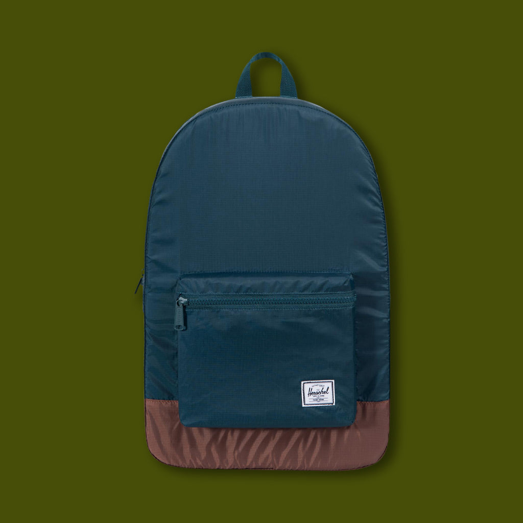 Packable Day Pack - Teal & Tan