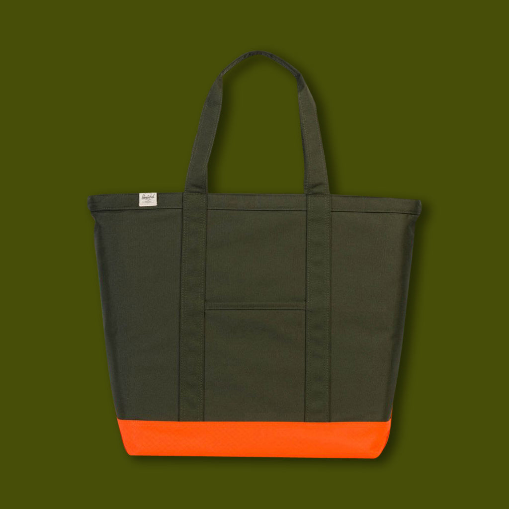 Bamfield Tote - Forest & Vermillion
