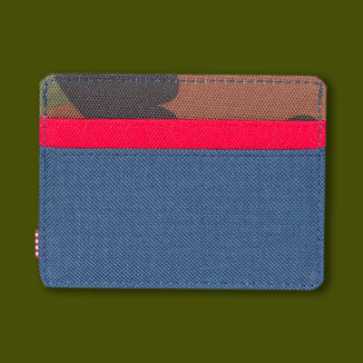 Charlie Wallet - Navy / Red / Camo