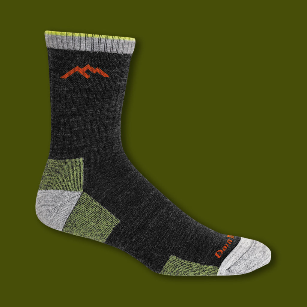 Hiker Micro Crew Socks - Lime