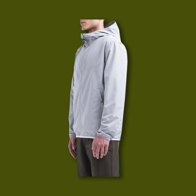 Wind Jacket - Light Grey Crosshatch