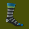Warlock Crew Light Socks - Charcoal/Grey