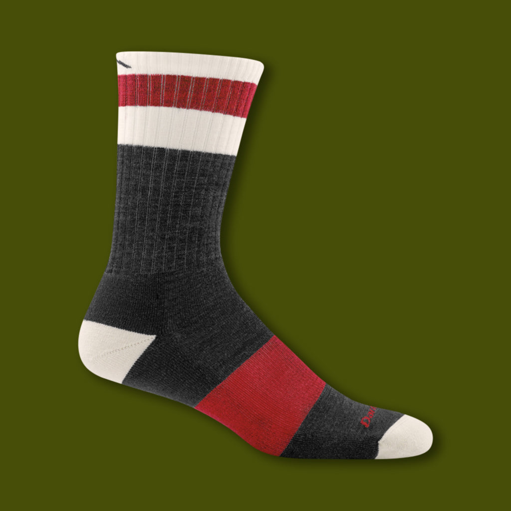 Haselton Micro Crew Light Socks - Charcoal