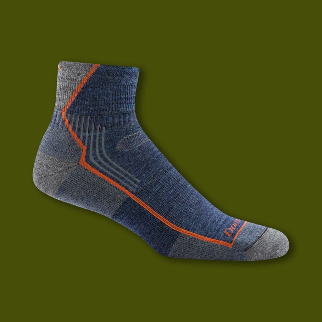 Hiker 1/4 Socks - Denim