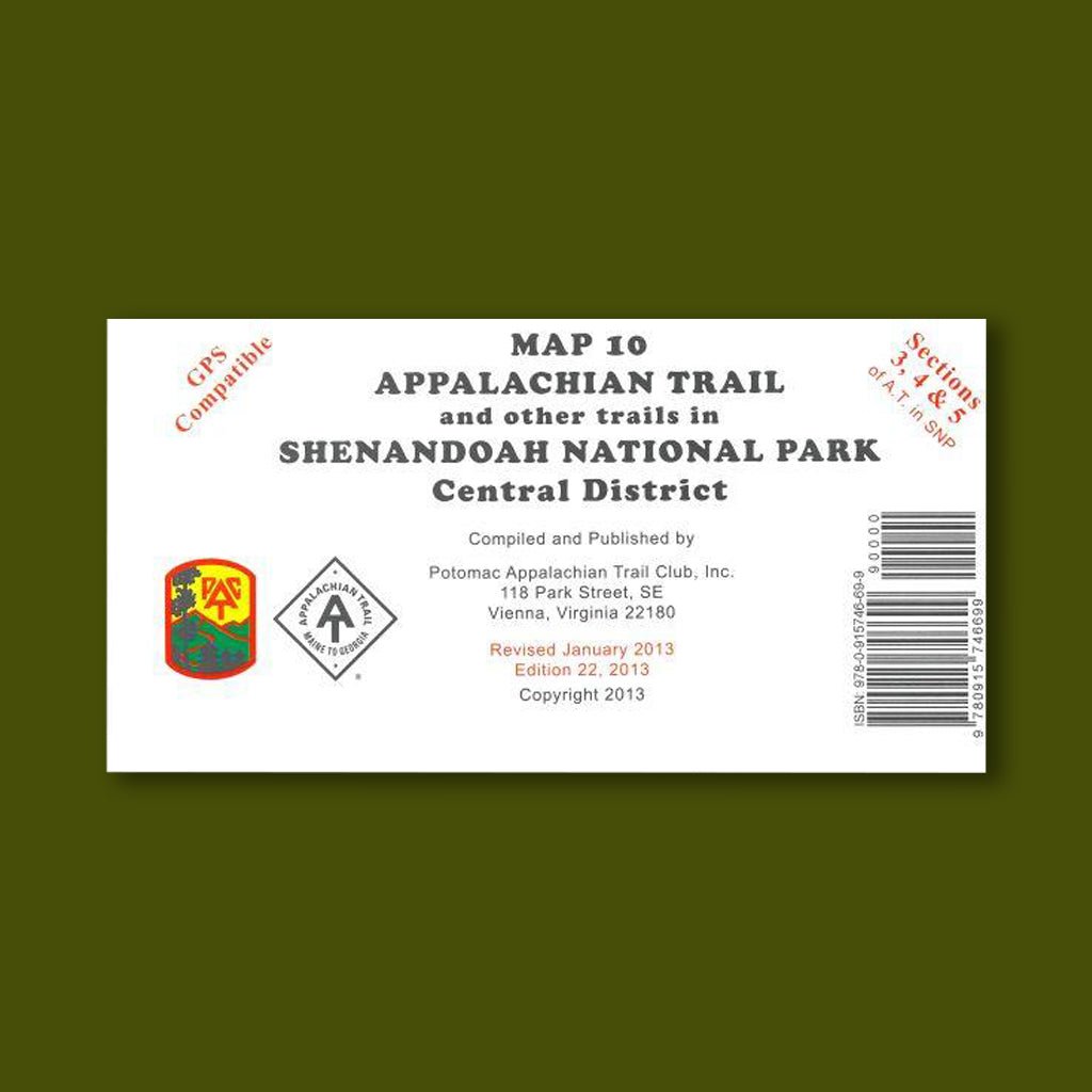 PATC - Trail Map - No.10