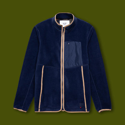 Light Zip Fleece Jacket - Peacoat