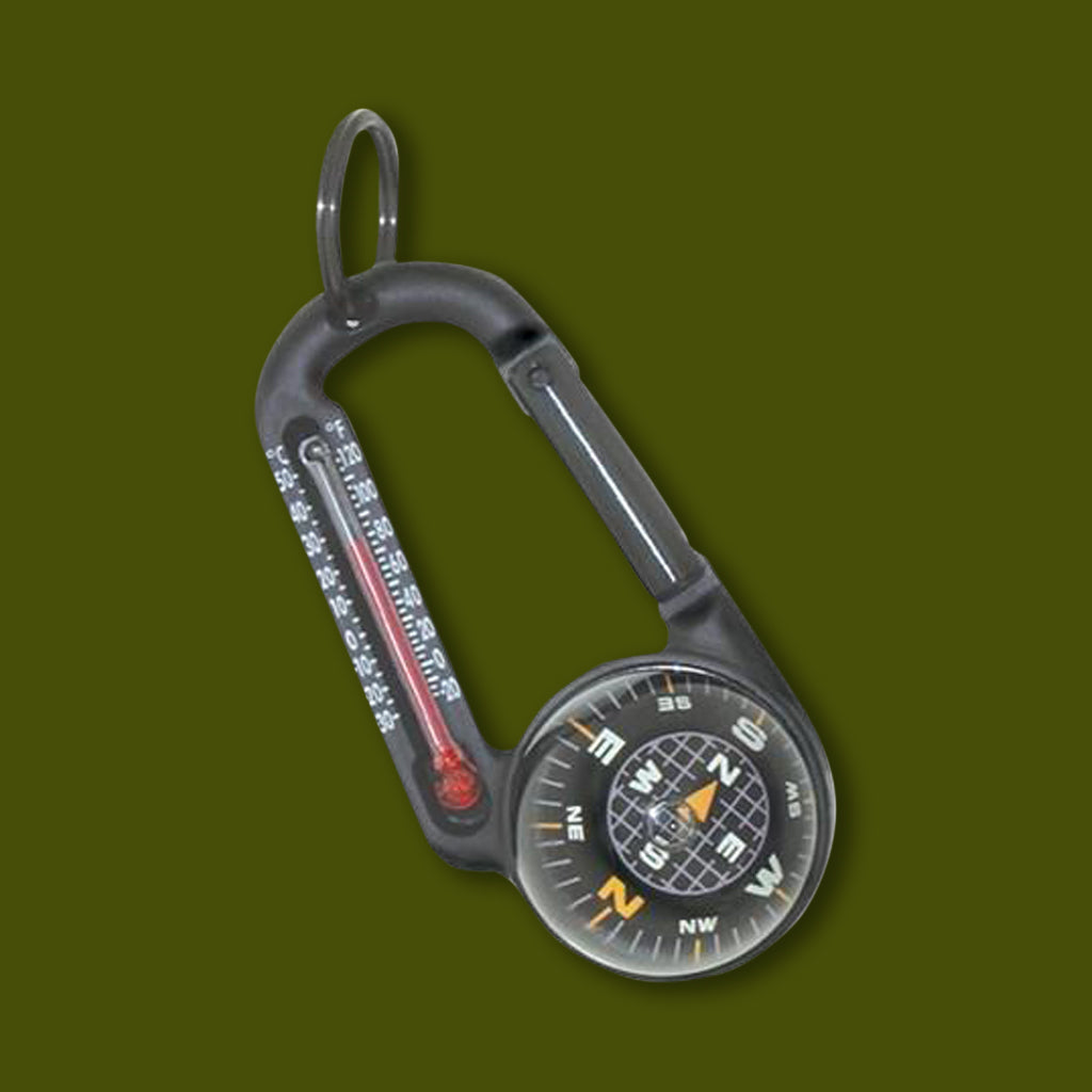 Carbiner Thermometer Compass
