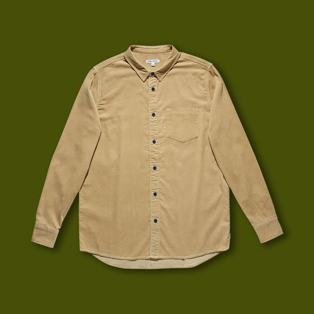 Roy Woven Long Sleeve Shirt - Sand