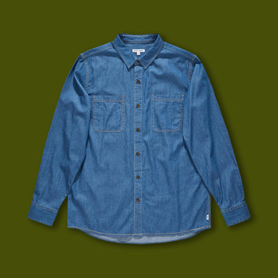 Overgrown Long Sleeve Shirt - Chambray Blue