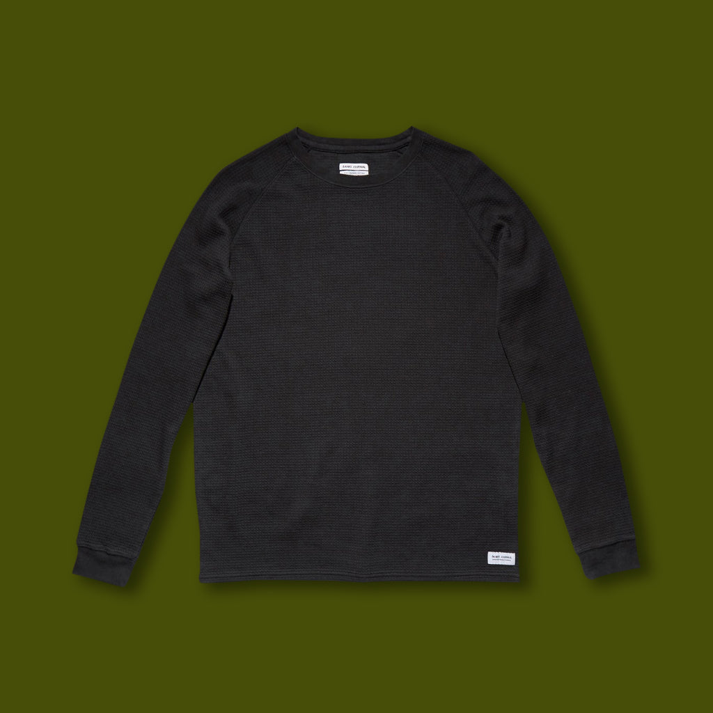 Preston Transseasonal Mid-Weight Fleece - Dirty Black