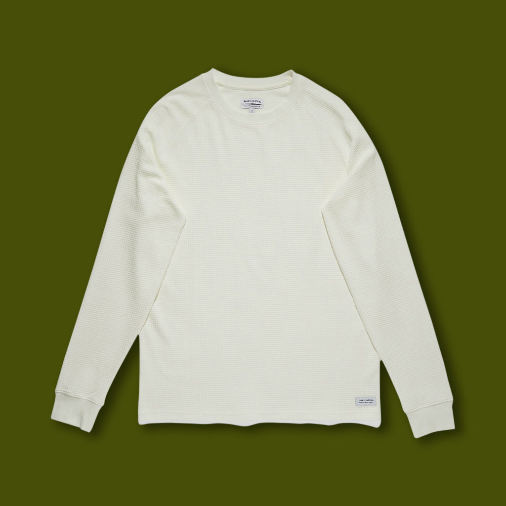 Preston Transseasonal Mid-Weight Fleece - Off White