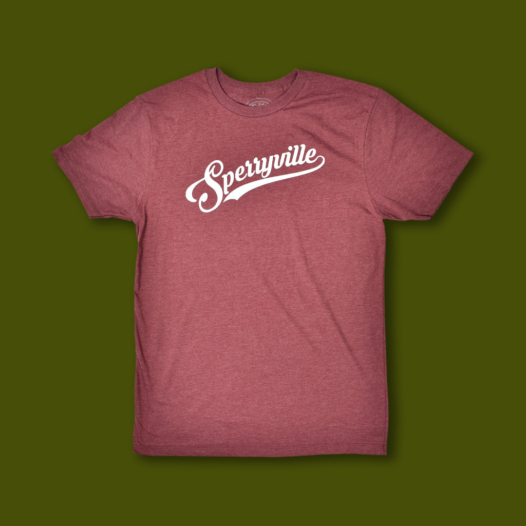 Sperryville Script Tee - Heather Burgundy