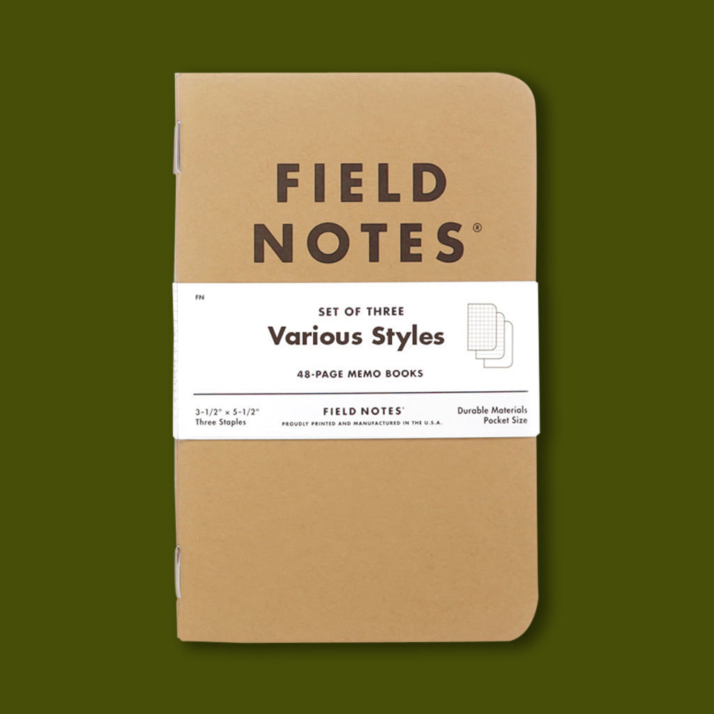 Field Notes Three Pack Various