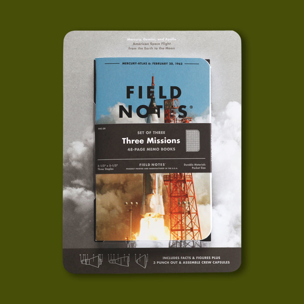 Field Notes Mission to Space Three Pack