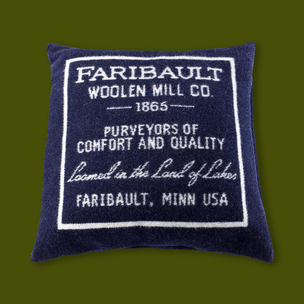 Wool Logo Pillow