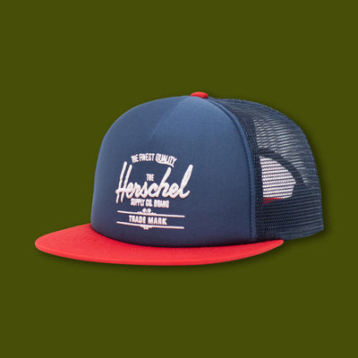 Whaler Mesh Hat - Navy / Red