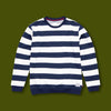 Crewneck Sweatshirt - Blue & White Stripe