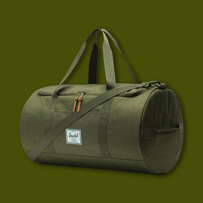 Sutton Duffle - Olive Night Crosshatch