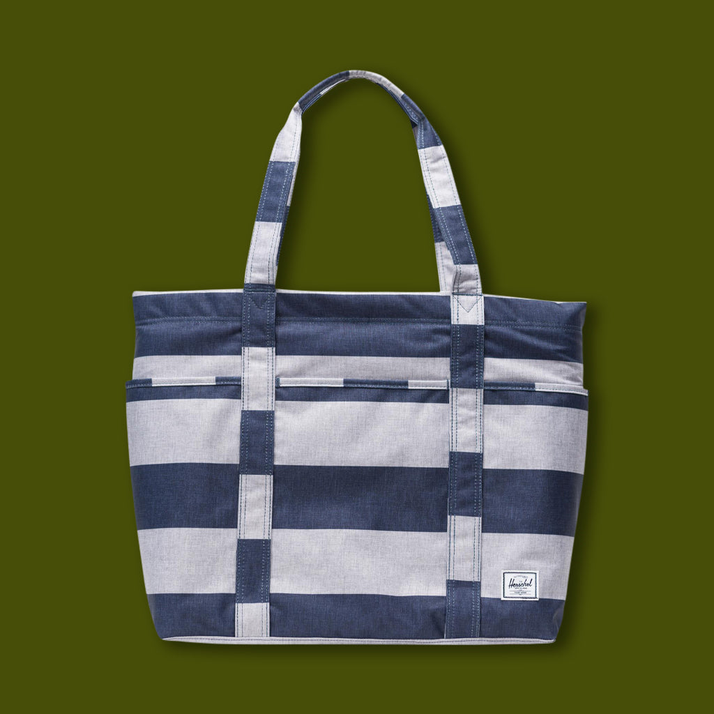 Terrace Tote - Blue & White Stripe