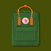 Kanken Bag - leaf green / burnt orange