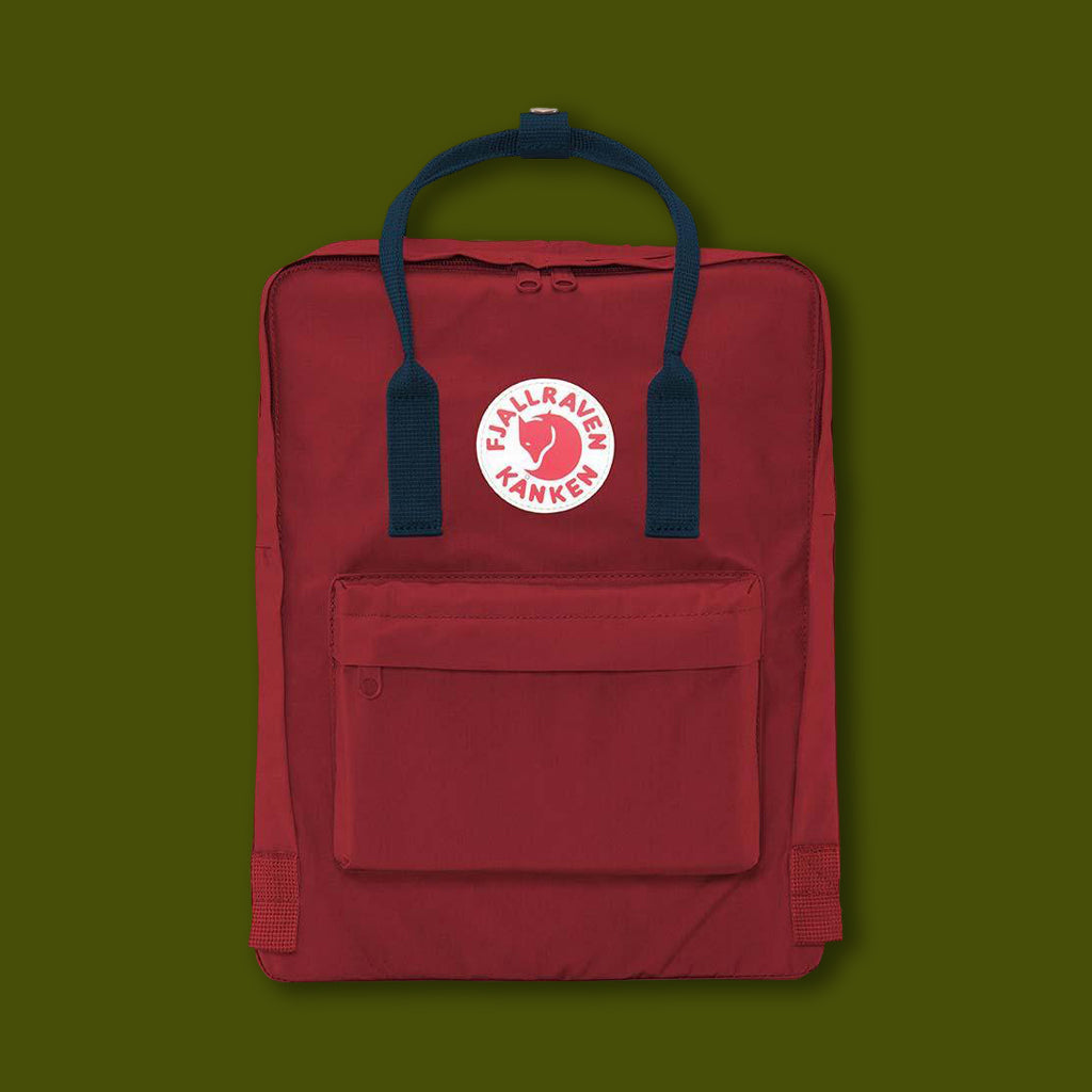 Kanken Bag - Ox Red / Royal Blue