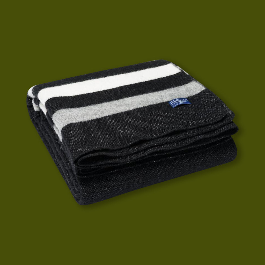 Revival Stripe Throw - Black/Grey