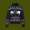 Men's Wool Blend Elk Sweater Jacket
