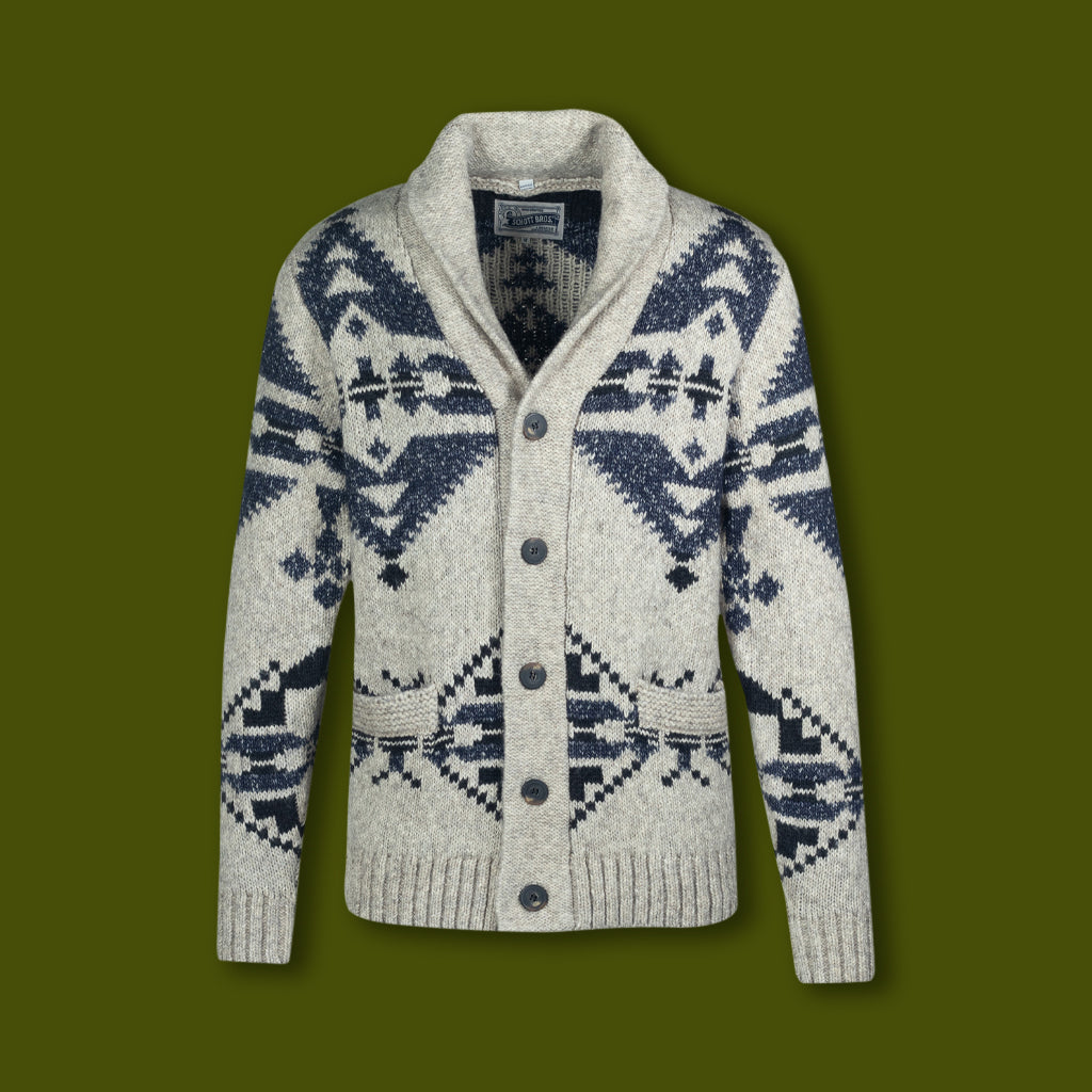 Men's Motiff Cardigan Sweater - Limestone